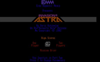 Invasion 3: Astra  - Screenshot - Game Title