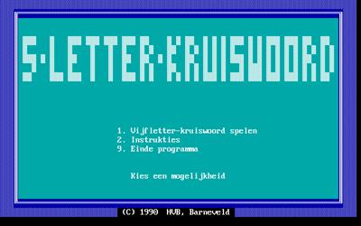 5-Letter-Kruiswoord - Screenshot - Game Title