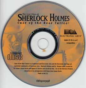 The Lost Files of Sherlock Holmes: The Case of the Rose Tattoo - Disc