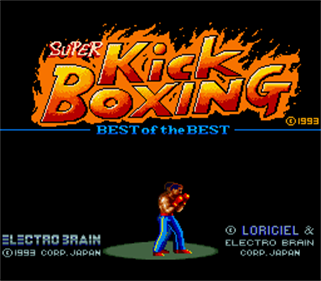 Best of the Best: Championship Karate - Screenshot - Game Title