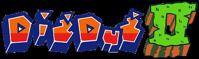 Dig Dug II - Clear Logo