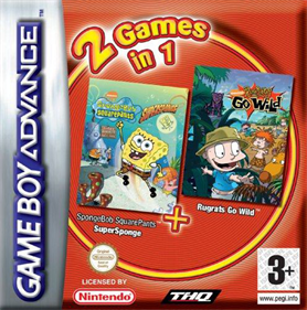 2 Games in 1: Rugrats: Go Wild + SpongeBob SquarePants: SuperSponge