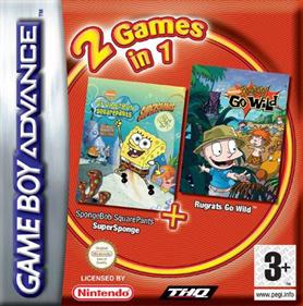2 Games in 1: Rugrats: Go Wild + SpongeBob SquarePants: SuperSponge