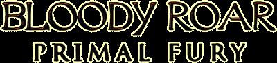 Bloody Roar: Primal Fury - Clear Logo