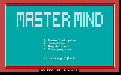 Master Mind - Screenshot - Game Title