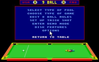 Archer Maclean's Pool - Screenshot - Game Select