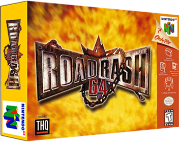 Road Rash 64 - Box - 3D