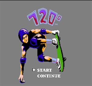 720° - Screenshot - Game Title