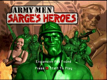 Army Men: Sarge's Heroes - Screenshot - Game Title