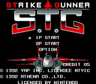 Strike Gunner: S.T.G - Screenshot - Game Title