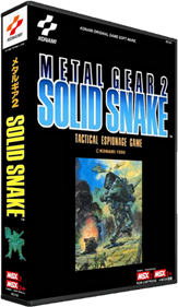 Metal Gear 2: Solid Snake - Box - 3D