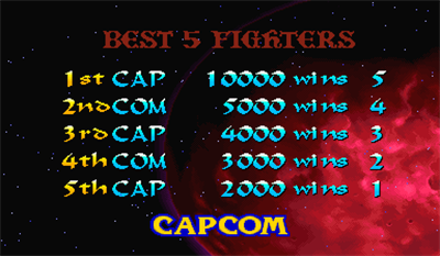 Night Warriors: Darkstalkers' Revenge - Screenshot - High Scores