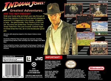 Indiana Jones' Greatest Adventures - Box - Back - Reconstructed