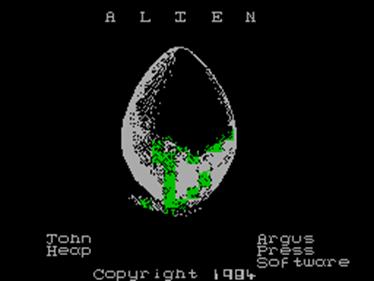 Alien - Screenshot - Game Title