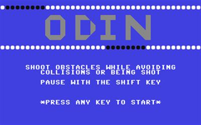 Odin - Screenshot - Game Title