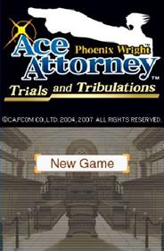 Phoenix Wright: Ace Attorney: Trials and Tribulations - Screenshot - Game Title