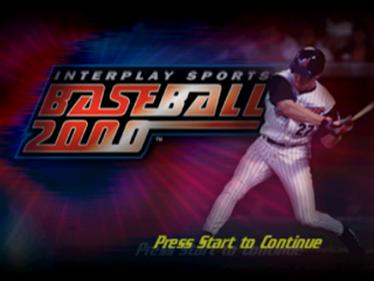 Interplay Sports Baseball 2000 - Screenshot - Game Title