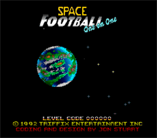 Space Football: One on One - Screenshot - Game Title