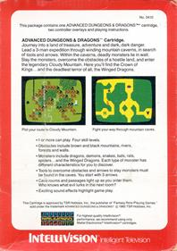 Advanced Dungeons & Dragons: Cloudy Mountain - Box - Back