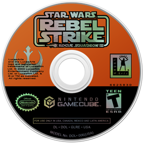 Star Wars Rogue Squadron III: Rebel Strike - Disc