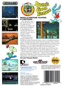 Tiny Toon Adventures: Buster's Hidden Treasure - Box - Back