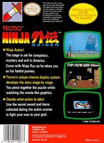 Ninja Gaiden - Box - Back