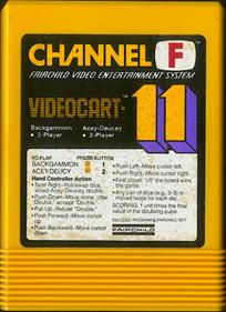 Videocart-11: Backgammon, Acey-Deucey - Cart - Front