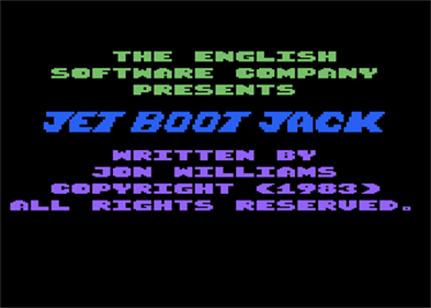 Jet-Boot Jack - Screenshot - Game Title