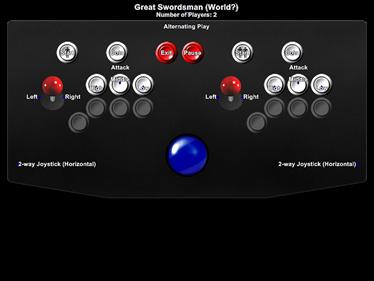 Great Swordsman - Arcade - Controls Information