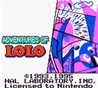 Adventures of Lolo - Screenshot - Game Title