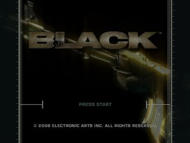 Black - Screenshot - Game Title