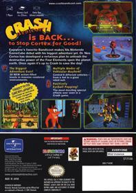 Crash Bandicoot: The Wrath of Cortex - Box - Back