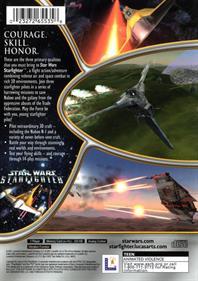 Star Wars: Starfighter - Box - Back