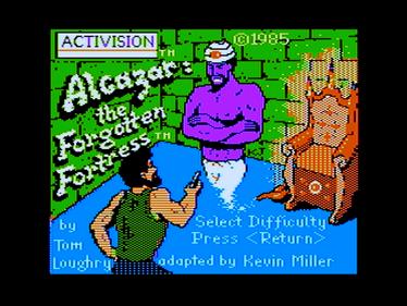 Alcazar: The Forgotten Fortress - Screenshot - Game Title