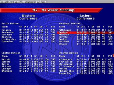 NHL Hockey 95 - Screenshot - Gameplay