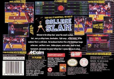 College Slam - Box - Back