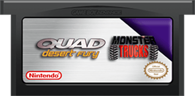 2 Games In 1 Double Value!: Monster Trucks / Quad Desert Fury - Cart - Front