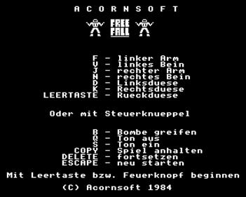 Free Fall  - Screenshot - Game Select