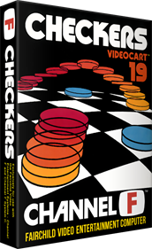 Videocart-19: Checkers - Box - 3D