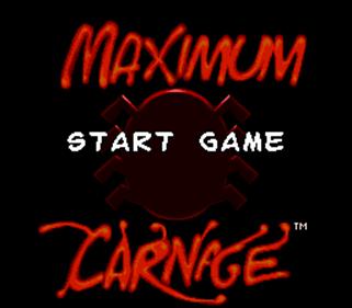 Spider-Man Venom: Maximum Carnage - Screenshot - Game Title