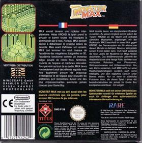 Monster Max - Box - Back