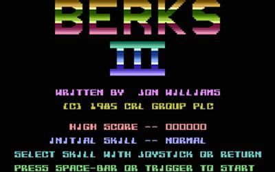 Berks 3 - Screenshot - Game Title