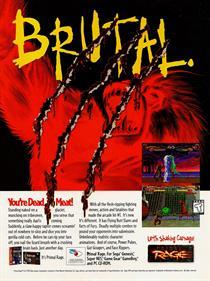 Primal Rage - Advertisement Flyer - Front