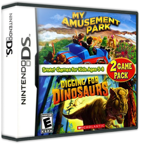 2 Game Pack: My Amusement Park + Digging for Dinosaurs - Box - 3D