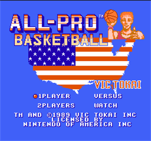 All-Pro Basketball - Screenshot - Game Title