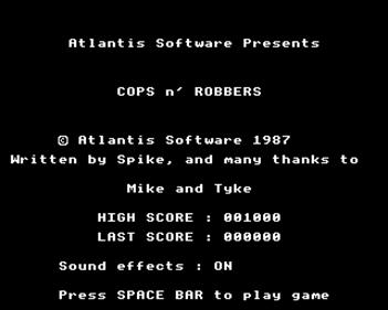 Cops 'N Robbers - Screenshot - Game Title