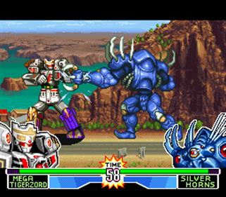 Mighty Morphin Power Rangers: The Fighting Edition - Screenshot - Gameplay