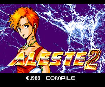 Aleste 2 - Screenshot - Game Title