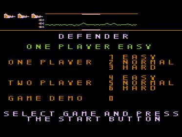Defender - Screenshot - Game Title