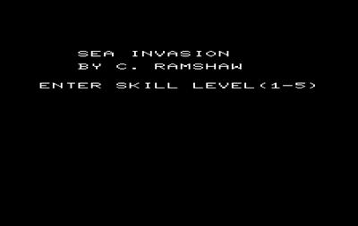 Sea Invasion - Screenshot - Game Select